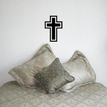 CROSS Christian Vinyl Wall Room Decal Sticker Jesus God