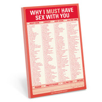 Why I Must Have Sex With You Pad – Sex Checklist by Knock Knock