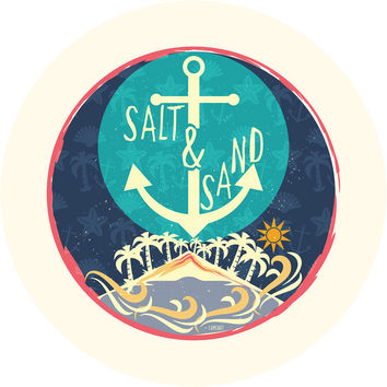 Beach Sand Salt Circle Wall Decal