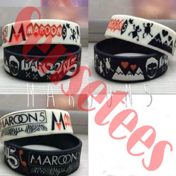 Maroon 5 Bracelet Maroon 5 New Logo Bracelets Black and White Color