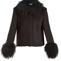 Dorthe fur-trimmed wool jacket | Saks Potts | MATCHESFASHION.COM US