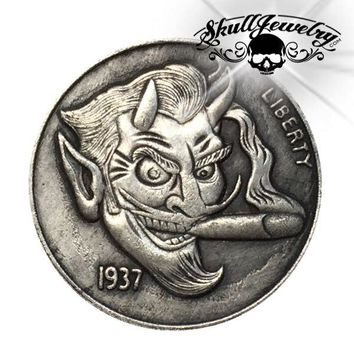 'Devilish' 1937-D 3-Legged Buffalo Hobo Nickel (m0085)