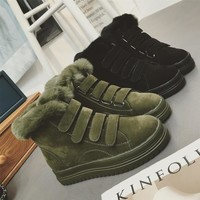 Winter Shoes Korean Boots Thick Crust Anti-skid Velcro [9582092175]