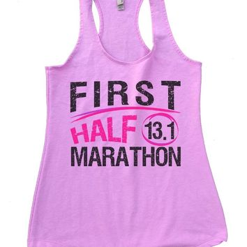 FIRST HALF 13.1 MARATHON Womens Workout Tank Top