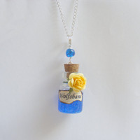 Harry Potter Inspired Wolfsbane Potion Bottle Necklace by NeatEats