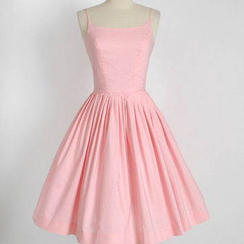 1950s pink dress * vintage 50s dress * Bobbie Brooks cotton dress