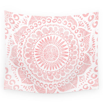 Society6 Blush Lace Wall Tapestry