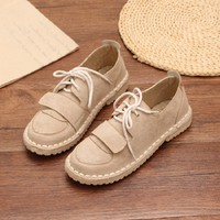 2018 spring shoes flat pink small fresh retro casual student shoes Korean women-in Women's Flats from Shoes on Aliexpress.com | Alibaba Group