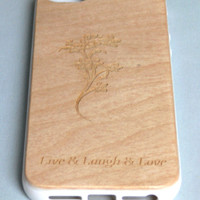 Iphone 5 cover case. Soft TPU Bumper With Wooden Hard Back Case Cover For Apple iPhone 5 5th. Phone case for Iphone 5.