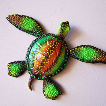 sea turtle wall art sculpture