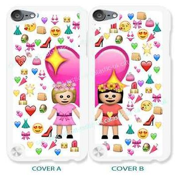 case,cover fits iPod models>BFF>emoji,emojis,best friend>friends>cute>girls