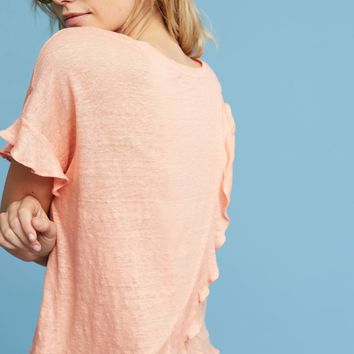Ruffled Cross-Back Top