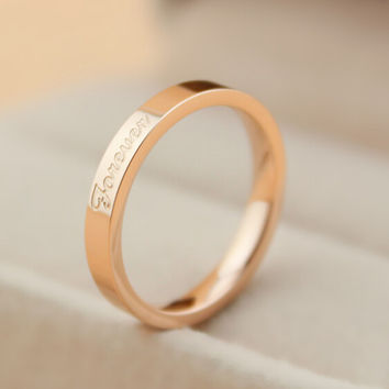 womens love gold ring gift-116