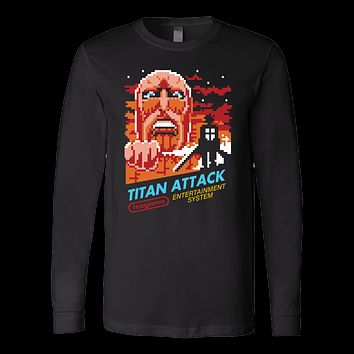 Attack on titans- Titan attack - Unisex Long Sleeve T Shirt - TL01234LS