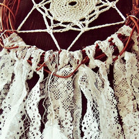 Rustic Dreamcatcher - Bohemian Dream Catcher -  Hippie Boho Bedroom Decor - Small Dreamcatcher