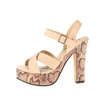 Luichiny Womens Is A Bell Ankle Wrap Strappy Platform Sandals
