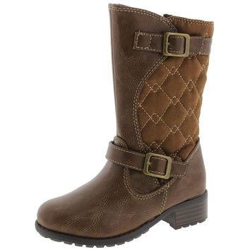 Rachel Shoes Girls Lil Odessa Toddler Quilted Riding Boots
