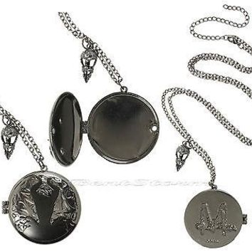 "Licensed cool NEW 2014 Disney Maleficent  2"" ENGRAVED Locket Pendant Necklace Magnetic Closure"