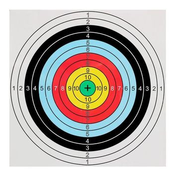 ICIK272 40x40cm Bow&Arrow Shooting Archery Target Paper bullseye target face for recurve bow outdoor sport hunt shoot accessories