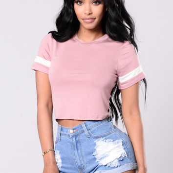 Just Right Tee - Mauve