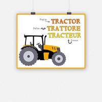 Tractor in 3 languages