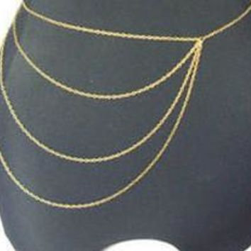Strong Character Chain Tassels Body Accessory [7241141447]