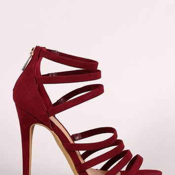 Anne Michelle Strappy Open Toe Stiletto Heel