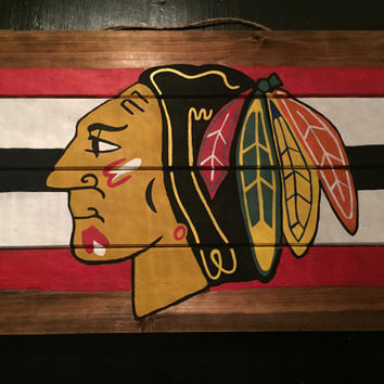 Chicago Blackhawks Pallet Sign