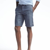 Aiden Slim Chambray Short | Banana Republic
