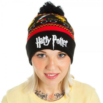 Harry Potter Fair Isle Beanie Hat