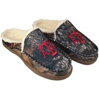 Texas A&M Aggies Sherpa-Lined Hooded Scuff Slippers - Camo