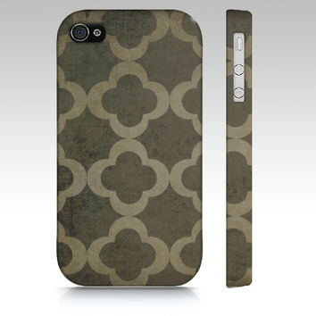 Chunky Clover II - Iphone 4, 4s, 5, 5s, 5c & Samsung Galaxy s3, S4 Case / cover - Grey, Rustic, Chic, Cottage, Luxe, Pattern, neutral,