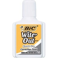 BIC® Wite-Out® Brand Quick Dry Correction Fluid, White, 3/Pack | Staples