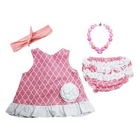 Wholesale Princess Pink & White Swing Top Set - Infant & Toddler | zulily