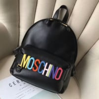 MOSCHINO Women Leather Shoulder Bag Satchel Handbag Backpack