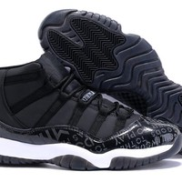 Nike Air Jordan XI 11   Black  Basketball Sneaker