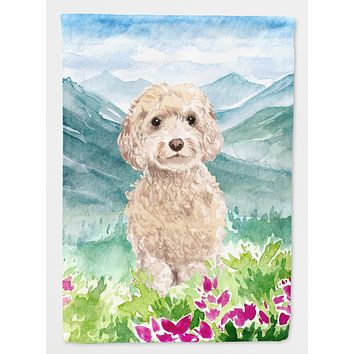 Mountian Flowers Goldendoodle Flag Canvas House Size CK1984CHF