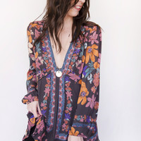 Free People Violet Hill Printed Tunic OB560783