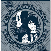 Black Butler Sebastain & Ciel Throw Blanket