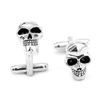 Street punk wind skulls metal men cufflinks  Personality quality cufflinks   Europe and the United States   white  free shipping