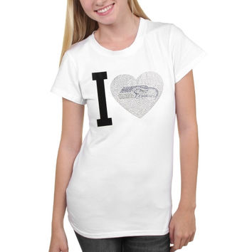 Seattle Seahawks Women's Touchback T-Shirt - White