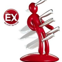 The Ex VooDoo Red Knife Set