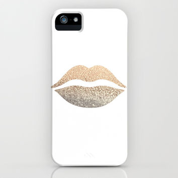 *** GATSBY GOLD LIPS  ***  New Design for the Gatsby Series! iphone 5c 5s 5 4s 4 3g 3gs samsung galaxy & ipod !