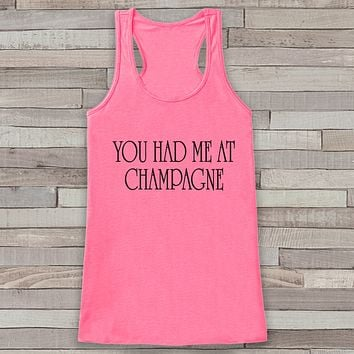 New Years Tank Top - Champagne Drinking Tank - Womens Tank Top - New Years Tank -  Pink Tank - Pink Tank Top - Funny New Years - Workout Top