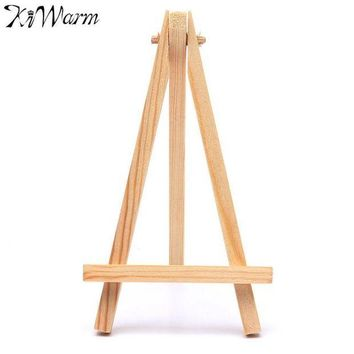 CREYN3C KiWarm Portable 5PCS Mini Artist Wooden Easel Wood Wedding Table Card Stand Display Holder For Party Home Decor Supply 9*16cm