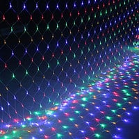 1.5*1.5 M LED curtain lights with 96 leds string light with plug Christmas holidays New year wedding party decoration led lights