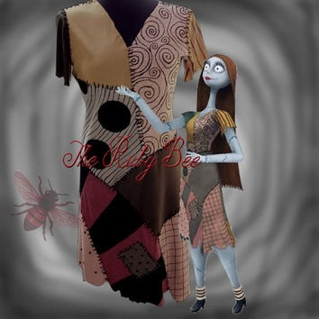 Sally Costume Nightmare Before Christmas Handmade Movie Colors Dress Custom Order Teen or Adult Size Halloween Cosplay