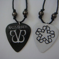 2 Black Veil Brides Guitar Pick Necklaces