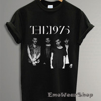 NEW The 1975 Band Shirt The 1975 T-Shirt Black SF-2