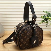 Louis Vuitton LV Women Retro Leather Handbag Crossbody Shoulder Bag Satchel